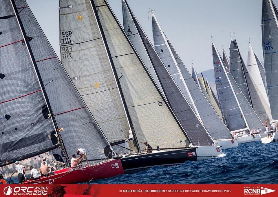 Copa del Rey die Top Regatta Veranstaltung im Mittelmeer. Yachtsegeln der Extraklasse 120 Boote am Start ORC Regatta