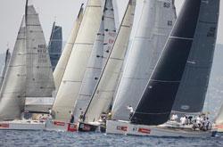 PalmaVela zum Regatta segeln im Mai vor Palma ORC Gruppe mit 30 Booten am Start