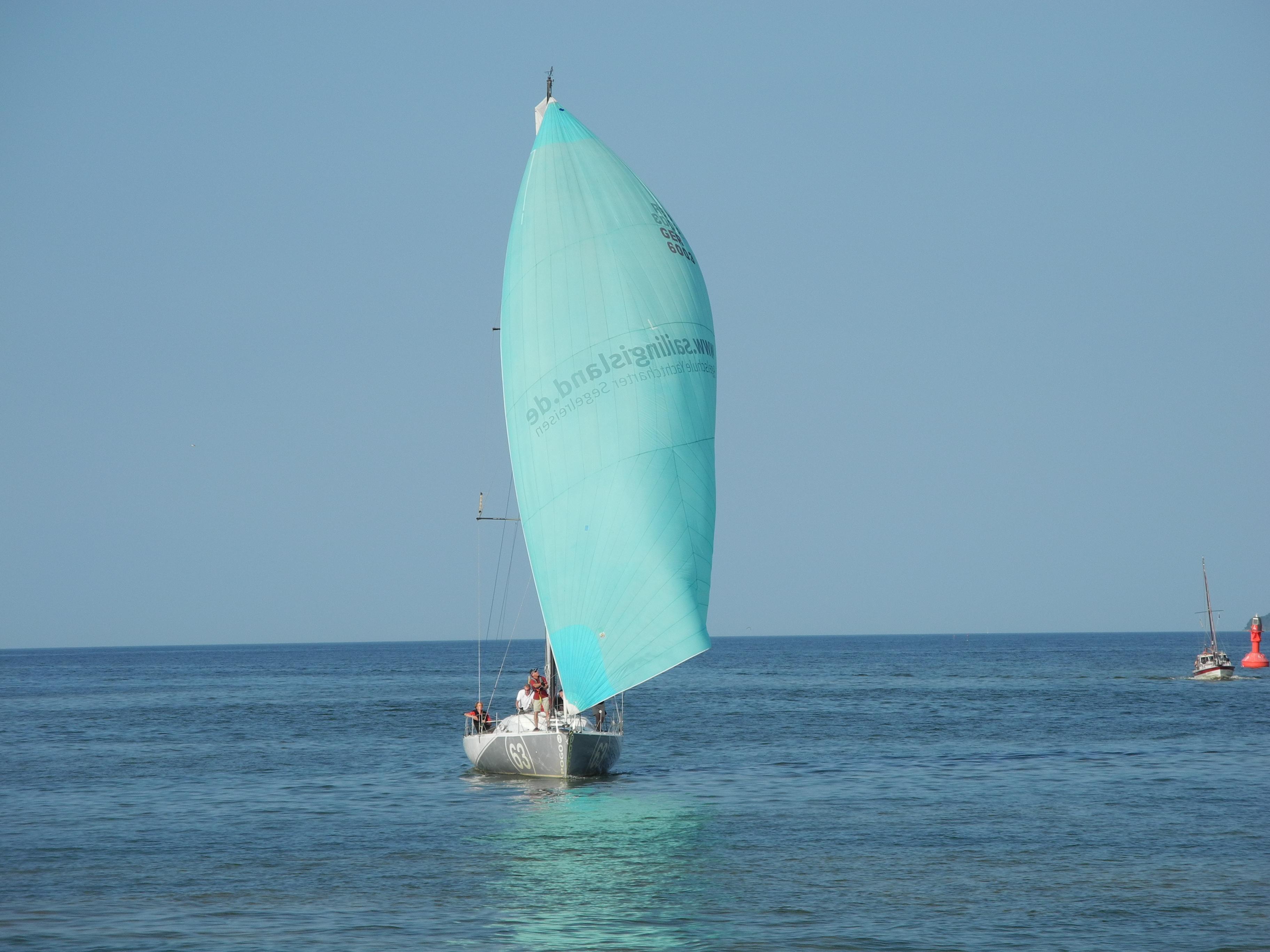 Yachthalse mit Gennaker