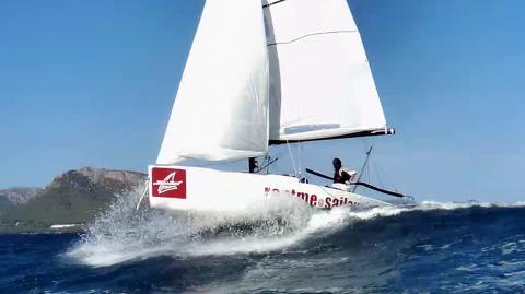 J70 in Aktion auf dem Mittelmeer