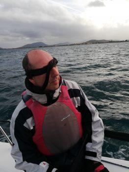 Blind segeln mit verbundene Augen